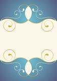 curlicue золотистое иллюстрация штока