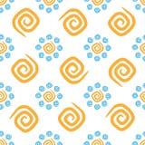 Curlicues безшовной картины красочные стоковые изображения rf