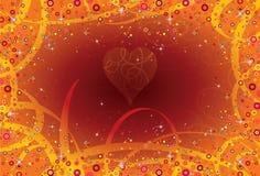 Curlicues d'amour de fond illustration stock