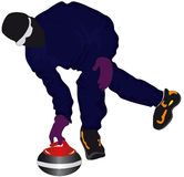 Curling. Vectors illustration shows a winter sport - curling royalty free illustration