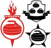 curling stock de ilustración