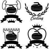 curling ilustración del vector