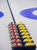 Curling. Indoor curling sheets in a sports center, edmonton, alberta, canada Stock Images