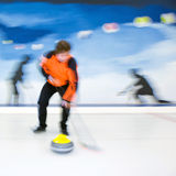 Curling brooming Royalty Free Stock Photography