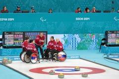 Curling in carrozzina Immagini Stock Libere da Diritti