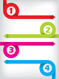 Curling color arrow infographic design Royalty Free Stock Photo