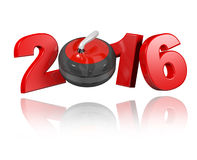 Curling 2016 design Royalty Free Stock Photo