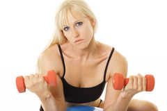 Curling exerciser closeup Royalty Free Stock Images
