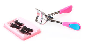 Curling eyelashes Royalty Free Stock Images