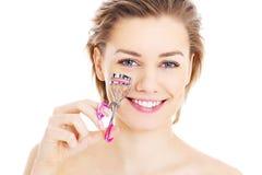 Curling eyelashes Stock Images