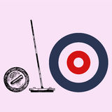 Curling game element Stock Photo