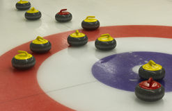 Curling. Game on the ice Stock Photo