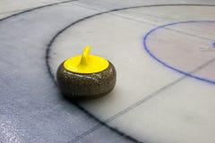 curling granitu stone gra Fotografia Royalty Free