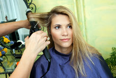 Curling hair Stock Photos