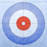 Curling House. Sport. Textures blue ice. Ice rink. Vector illustration background. Royalty Free Stock Photo