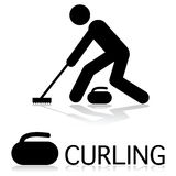 Curling icon Stock Photos