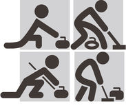 Curling icons Stock Image