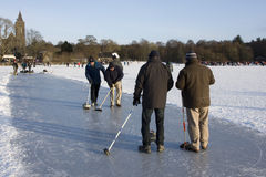 Curling on the Lake of Menteith Stock Photography