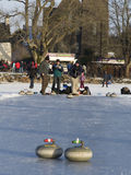 Curling on the Lake of Menteith Royalty Free Stock Images