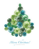 Curling paper Christmas tree Stock Image