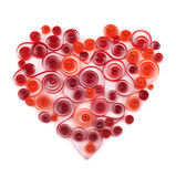 Curling paper red heart Royalty Free Stock Photos