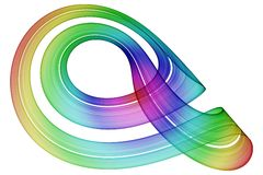 Curling Rainbow Ribbon Stock Images