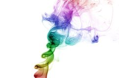 Curling Rainbow Smoke Stock Photography
