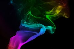 Curling Rainbow Smoke Royalty Free Stock Photography