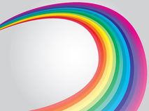 Curling rainbow Stock Photography
