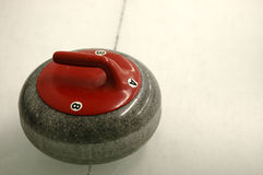 Curling Rock Royalty Free Stock Image