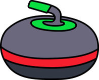 Curling Rock Royalty Free Stock Photos