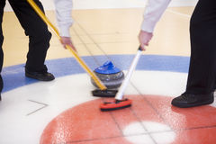 Curling Situation. Close up of a Curling situation Royalty Free Stock Images