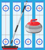 Curling sport game Stock Photos