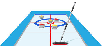 Curling sport game vector illustration Royalty Free Stock Image