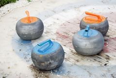Curling sport stones. Stock Photography