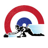 Curling sport. Stock Photos