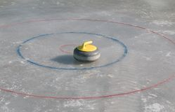Curling stone Stock Image