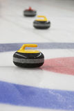 Curling Stone in the House royalty free stock images