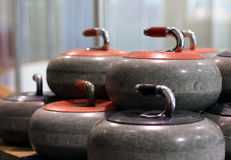 Curling Stones Royalty Free Stock Photography