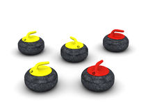 Curling stones Royalty Free Stock Photos