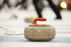 Curling. Stones on the ice Stock Photography