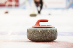 Curling. Stones on the ice Royalty Free Stock Image
