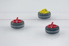 Curling stones Stock Photos