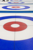 Curling target house Royalty Free Stock Images