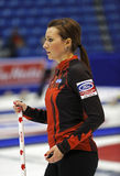 Curling Women Canada Emma Miskew Profile Royalty Free Stock Photography