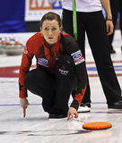 Curling Women Canada Emma Miskew Watches Royalty Free Stock Photo