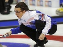 Curling Women Czech Republic Klára Svatoňová Royalty Free Stock Photos