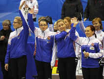 Curling Women Czech Republic Team Stock Photos