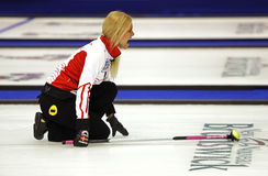 Curling Women Denmark Dupont Yell Stock Photos