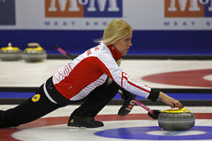 Curling Women Denmark Madeleine Dupont Royalty Free Stock Photo